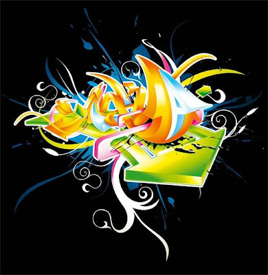 Graffiti 3D Arrow Graphic Designs 6