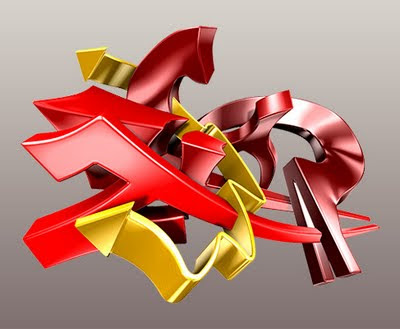 Graffiti 3D Arrow Graphic Designs 4