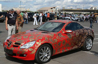 AWESOME CAR PAINTING AIRBRUSH ON HOOD AND BODY 1