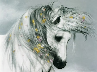 Beautiful horse realistic airbrush artwork 1