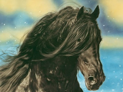 Beautiful horse realistic airbrush artwork 3