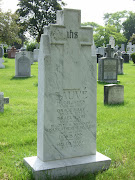 Tombstone of Israel Sauve' and Susan McAlear with children Hugh, Grace, .