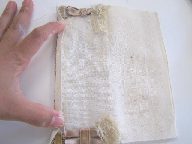 Браслет-манжета из ткани, лент и кружев IMG_8379