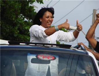 Sonya Abreu de Romero agradece a munícipes respaldo brindado en pasadas elecciones