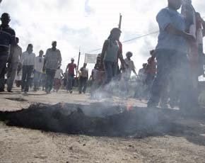 Población de Guerra acoge llamado protestar para reclamar construcción de las calles