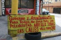 AYUNTAMIENTO Y OBRAS PUBLICAS HACEN OBRAS SOLO PARA BENEFICIO DE LOS PELEDEISTAS