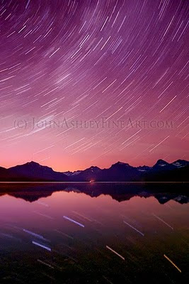 Stars on the water of Lake McDonald, Glacier National Park (c) John Ashley