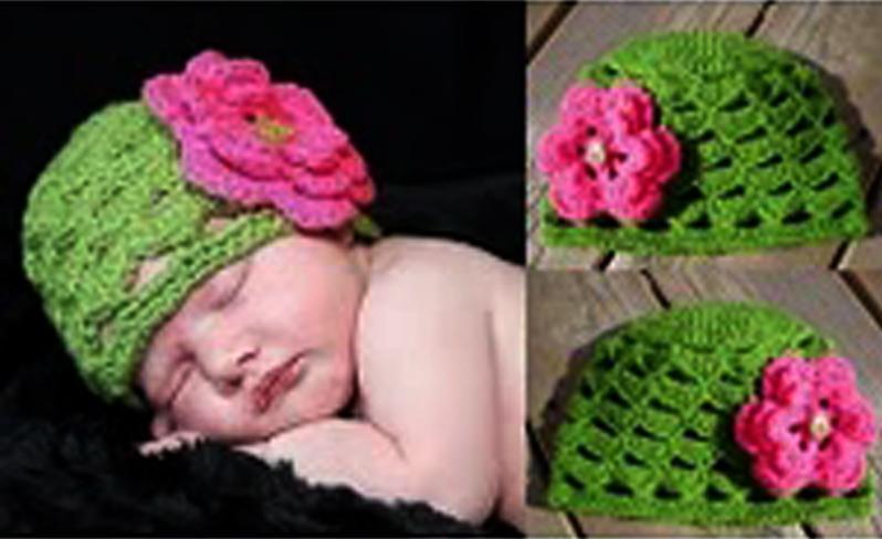 Crochet Children's Hat with Flower
