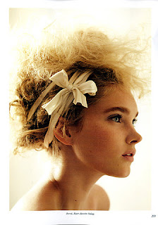 girl with pretty hair ribbon