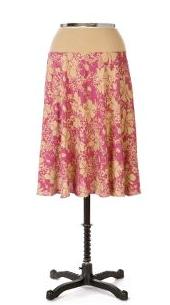 Flower Print Circle Skirt