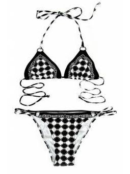 Graphic Black and White Bikini