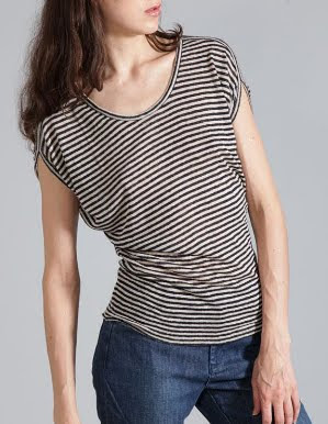 Linen Nautical Stripe Tee
