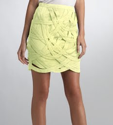 Bandage Loop Mini Skirt
