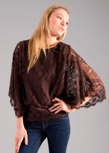 Scalloped Batwing Lace Top