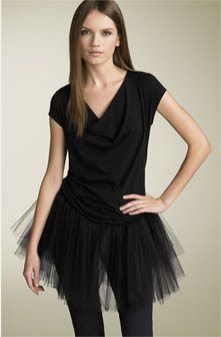 Jersey & Tulle Minidress