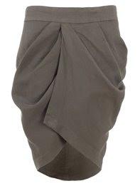 Khaki Tulip Skirt