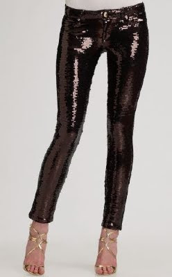 Sequin Skinny Pants
