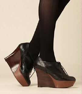 Platform Wedge Oxfords