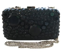 Studded Glass Clutch