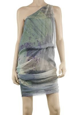Watercolor Chiffon Dress