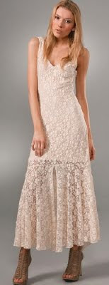 Lace Bottom Maxi Dress