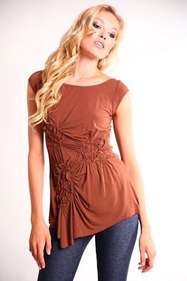Gathered Ruched Tunic