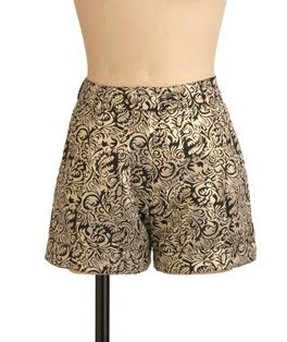 Gold Brocade Shorts