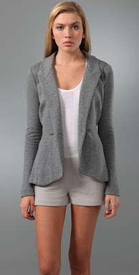 Terry Cutout Blazer