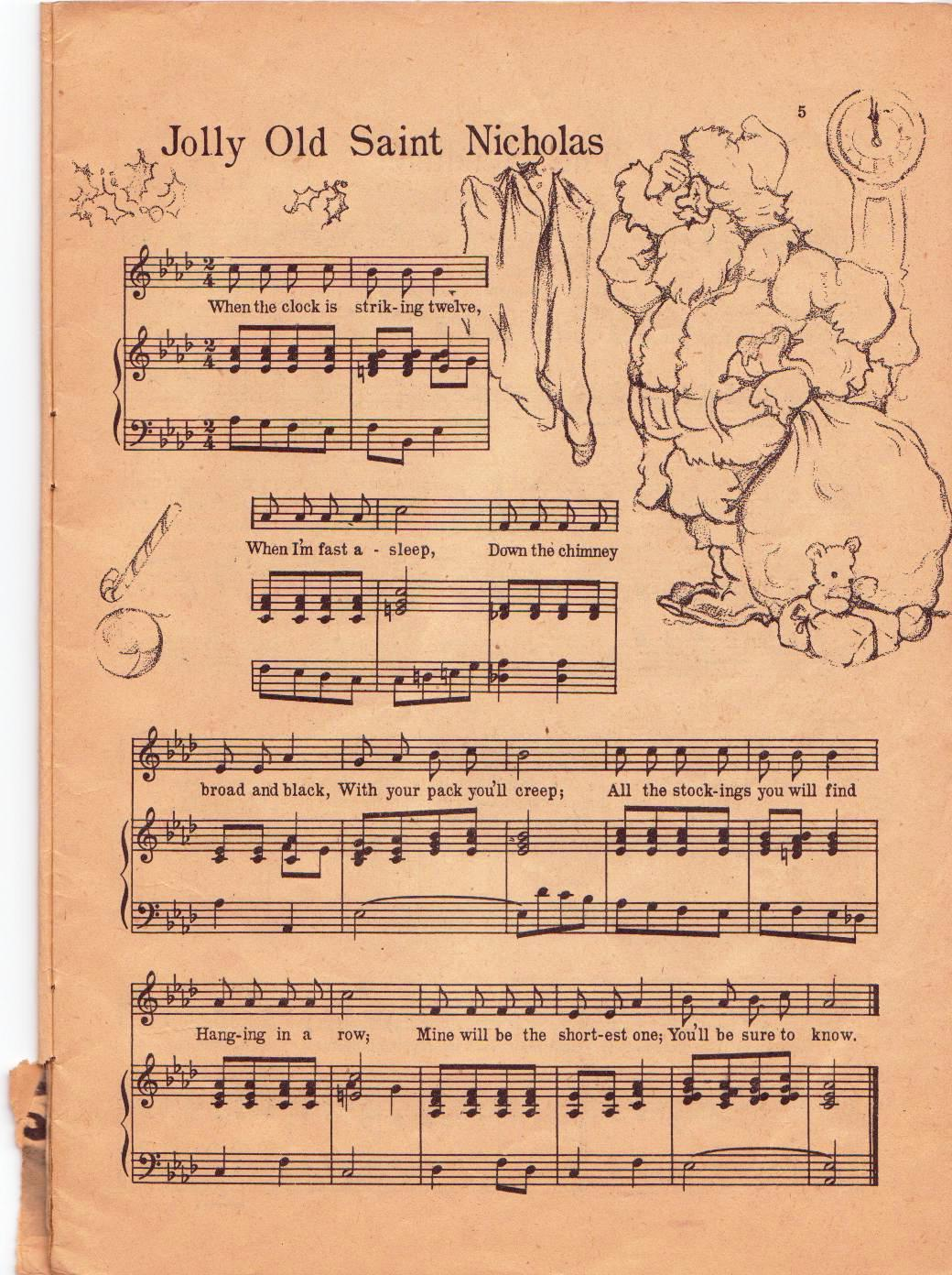 It's just a graphic of Impeccable Printable Christmas Sheet Music