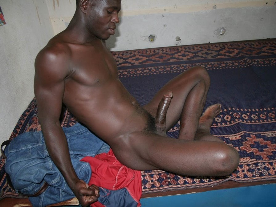 naked african gay man