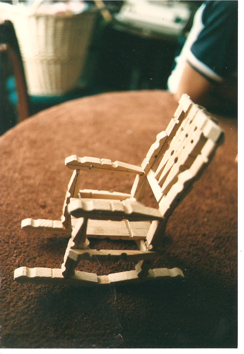 Taste the goode life more crafts and cooking for Small wooden rocking chair for crafts
