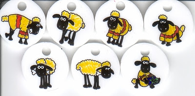 Shaun the Sheep stitch markers