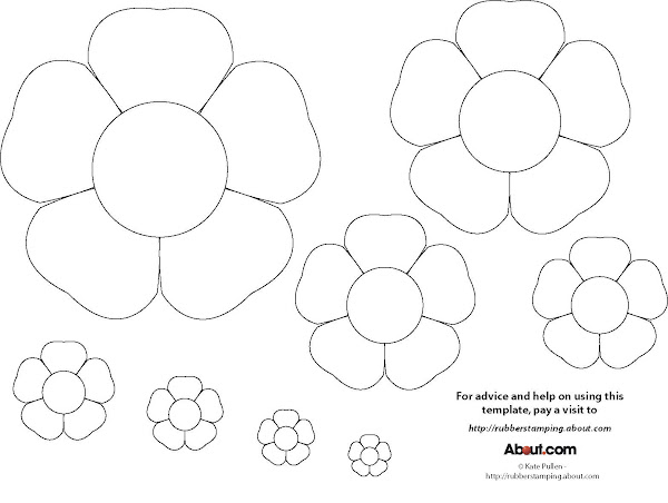 Printable Flower Templates Crafts