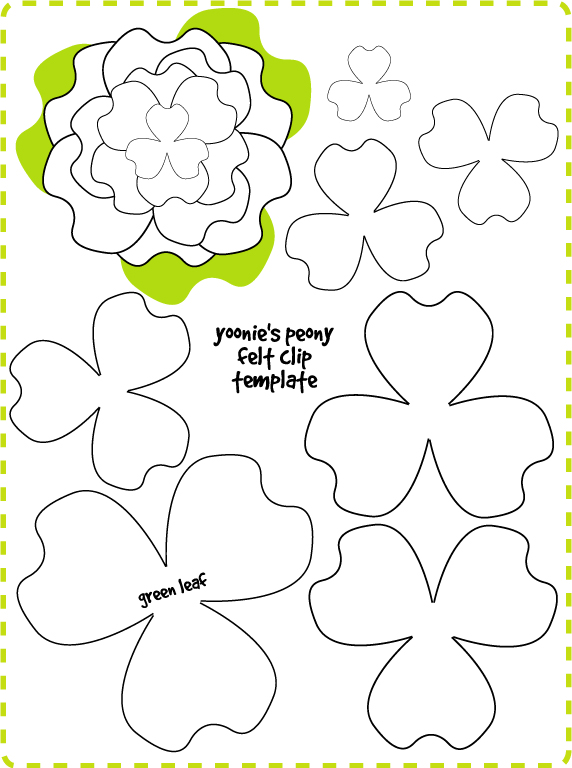 This is a picture of Decisive Felt Flower Template Printable