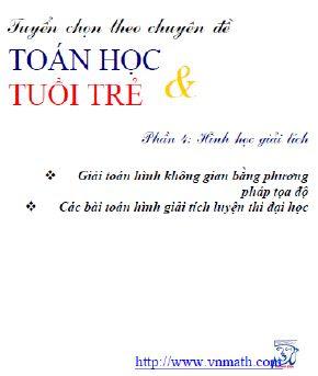 Tap chi Toan hoc tuoi tre, chuyen de Toan hoc tuoi tre