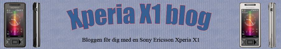 Sony Ericsson Xperia X1 blog
