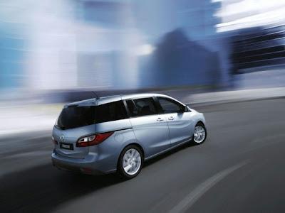 2011 Mazda5 Rear Angle View
