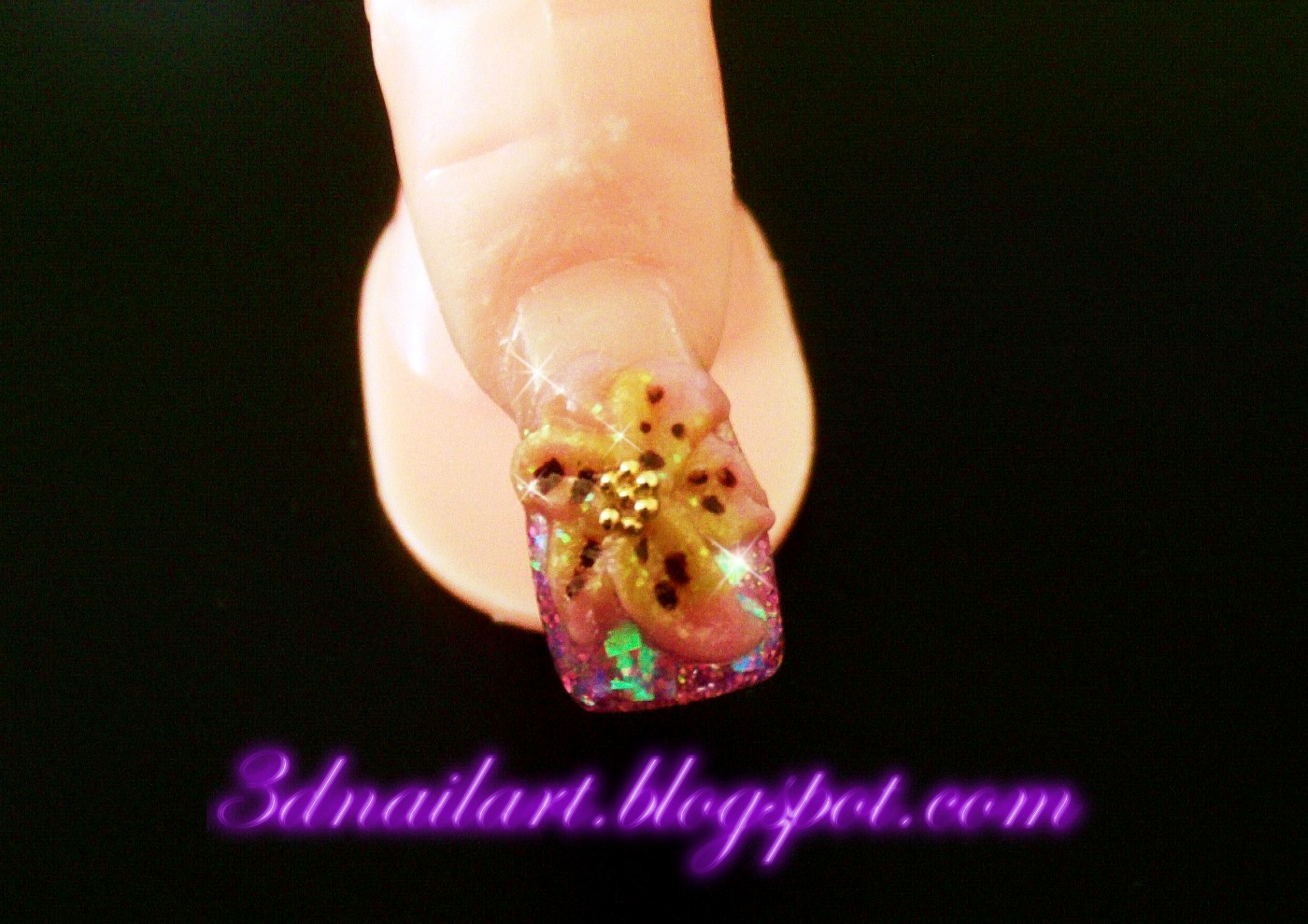 3d nail art tiger lily mothers day nail art happy mothers day beautiful ladies prinsesfo Image collections