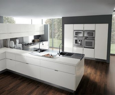 Wallpapers White Kitchen Interior by Pietro Arosio