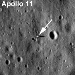 First image of landing site in 40 years courtesy of LRO