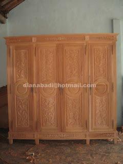 Klasik Furniture almari pakaian klasik supplier almari pakaian klasik ukir jepara mahoni almari pakaian 4 pintu mentah unfinished klasik