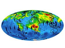 Aqua satellite show the global transport of carbon monoxide pollution