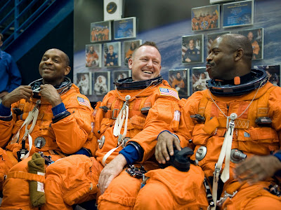 STS-129 Mission Specialists Robert L Satcher Jr., Leland Melvin and Pilot Barry E. Wilmore