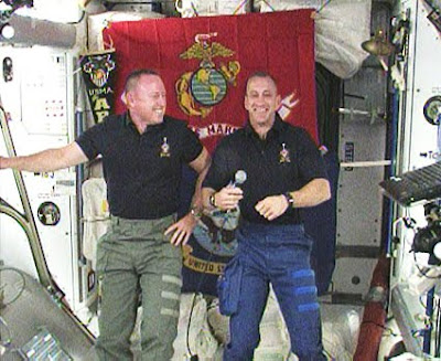STS-129 Pilot Barry Wilmore and Commander Charlie Hobaugh