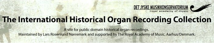 The International Historical Organ Recording Collection
