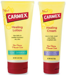 Carmex Lotion and Healing Cream