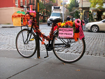 Bicycling for Peace, West Village.