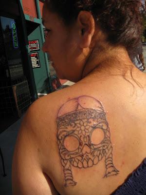 Mexican Skull Tattoo Flash