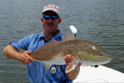 Capt Myers with big redfish