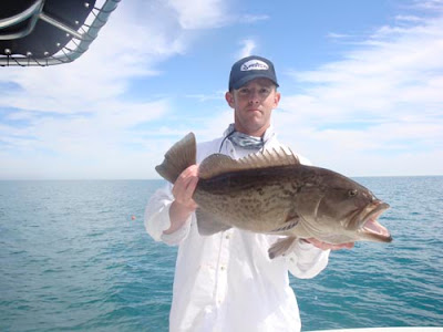 Capt. Jay with grouper